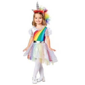 Other - Rainbow Unicorn Toddler Girls Costume Size 2T New